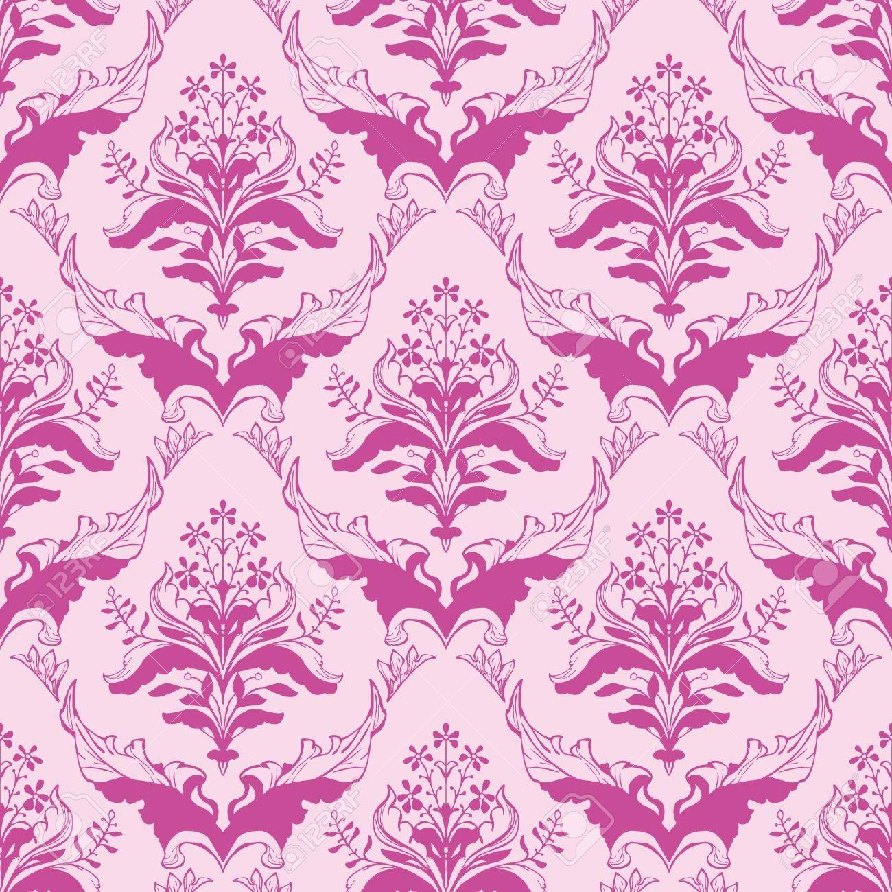 Catalogo Carta Da Parati Classica classica carta da parati floreale senza soluzione di continuità in damasco  rosa