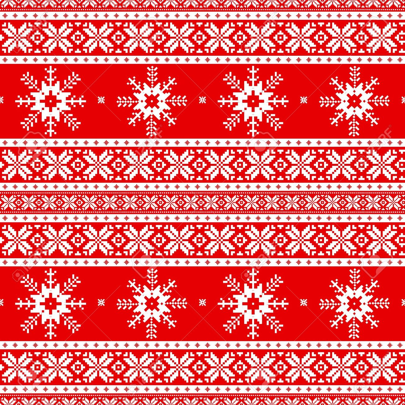 bd07e2596d93 Traditional christmas knitted ornamental pattern with snowflakes Stock  Vector - 15910741