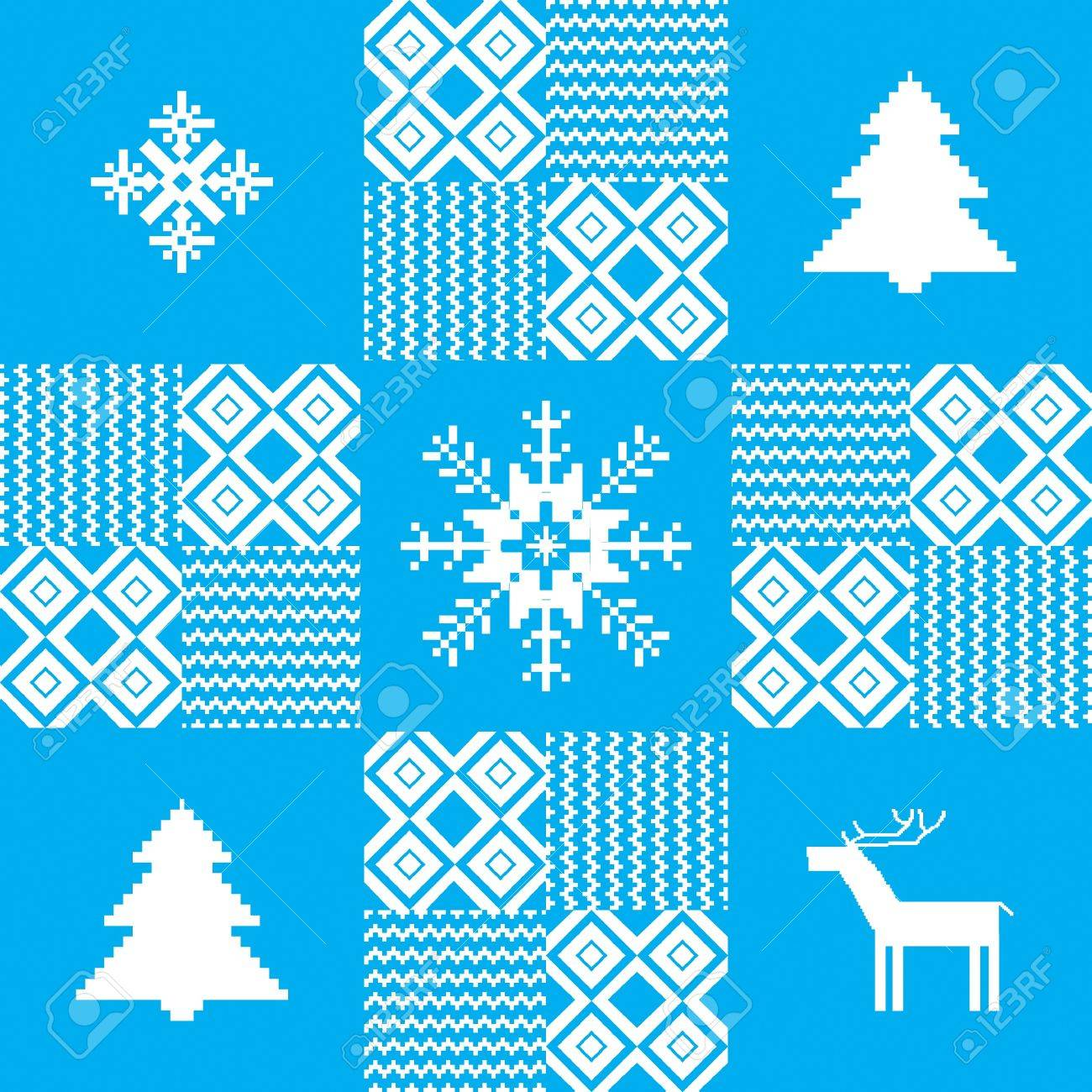 Christmas seamless pattern with traditional motives Stock Vector - 16702145