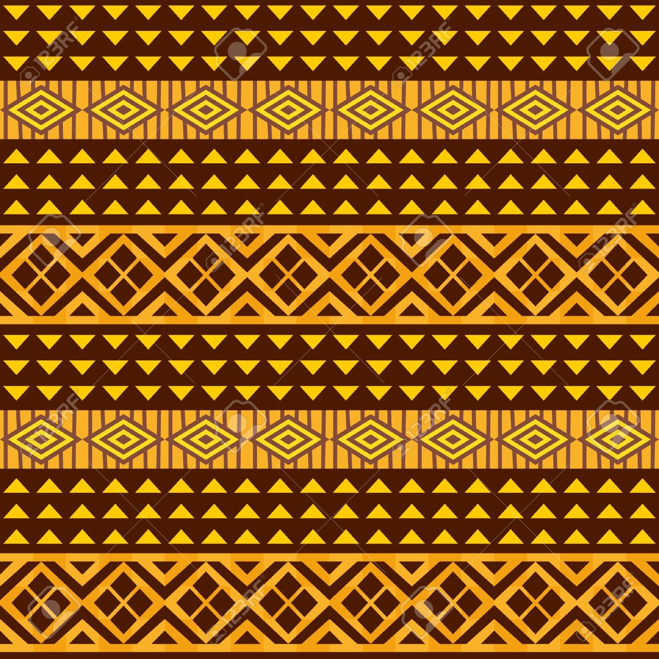 African geometric ornament, seamless background Stock Vector - 17375758