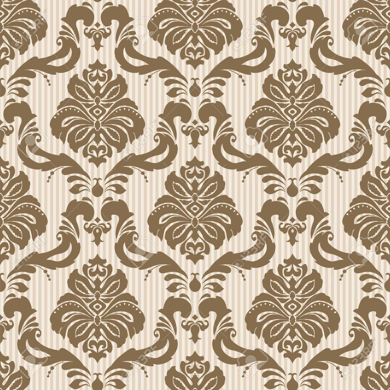 Classic wallpaper seamless ornamental pattern Stock Vector - 17410796