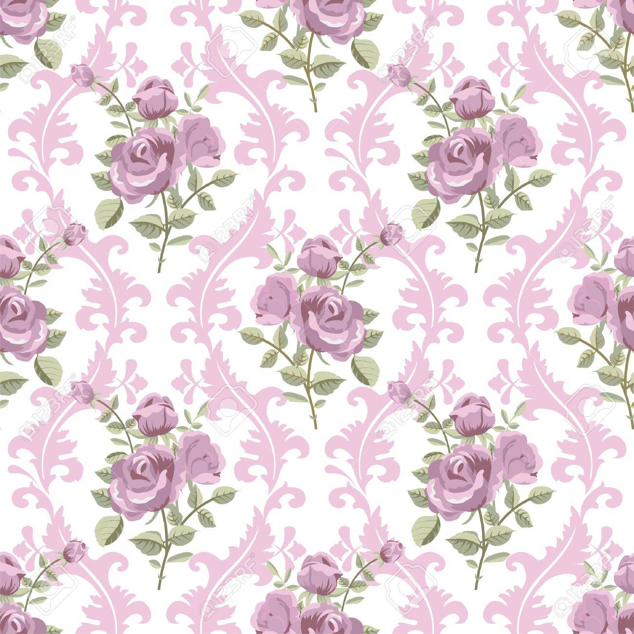 Rose classic wintage seamless wallpaper Stock Vector - 18218914