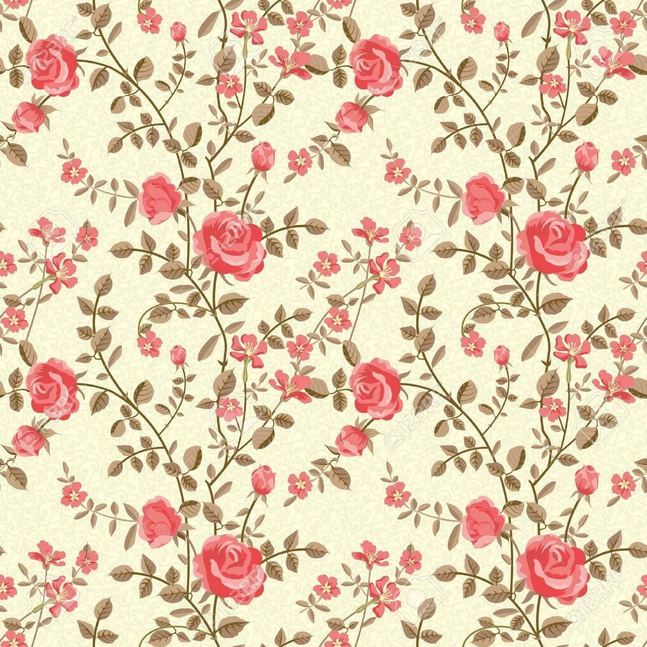 Roses pattern  vintage...