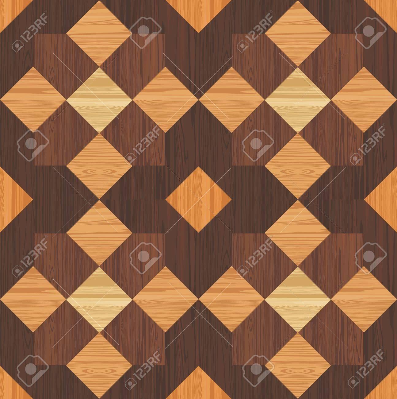 Vettoriale - Mosaico Di Legno Senza Soluzione Di Continuità Image ...