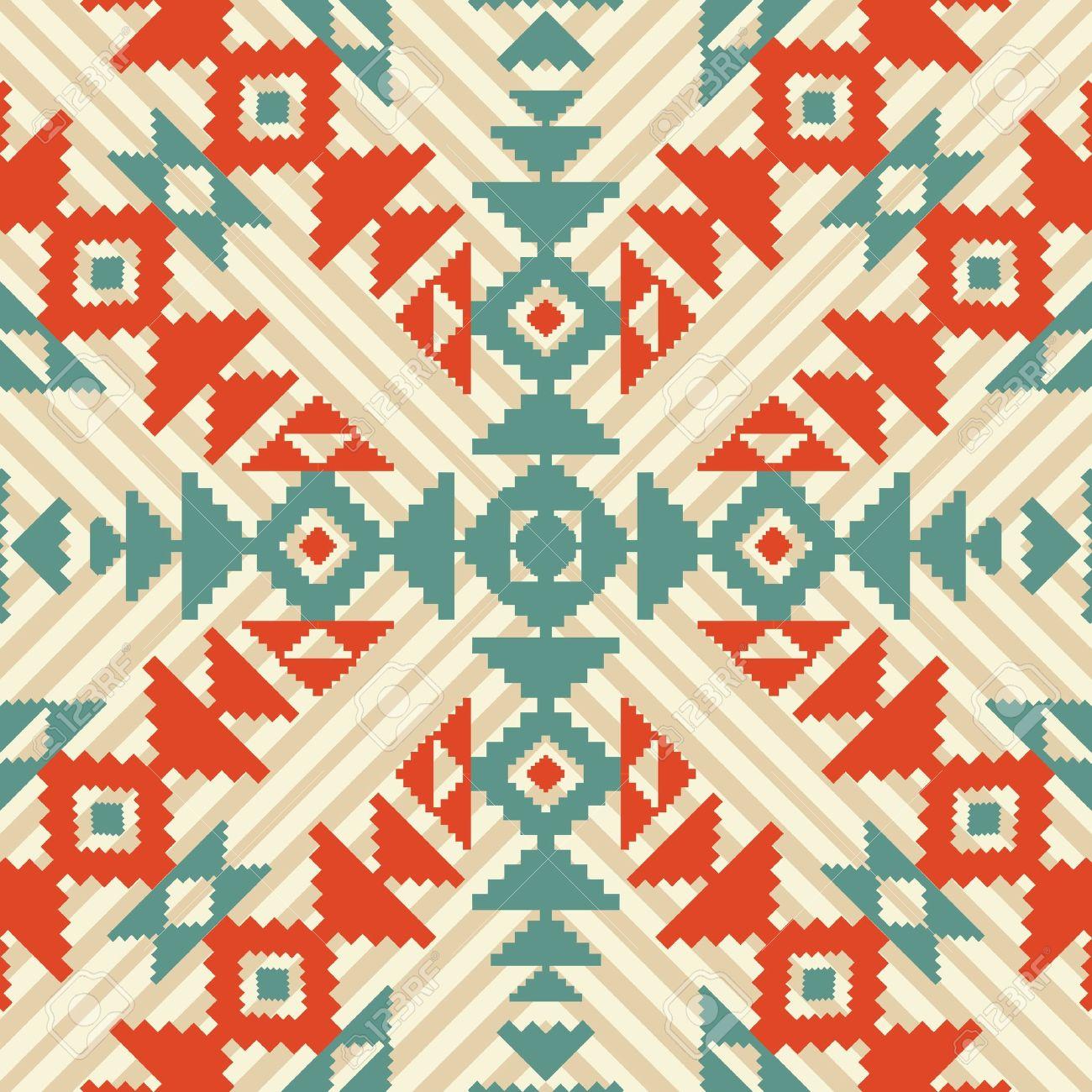 Ethnic geometric seamless ornament Stock Vector - 20734457