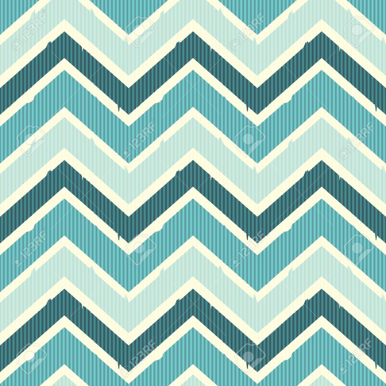 Seamless chevron pattern in sea colors Stock Vector - 20745845