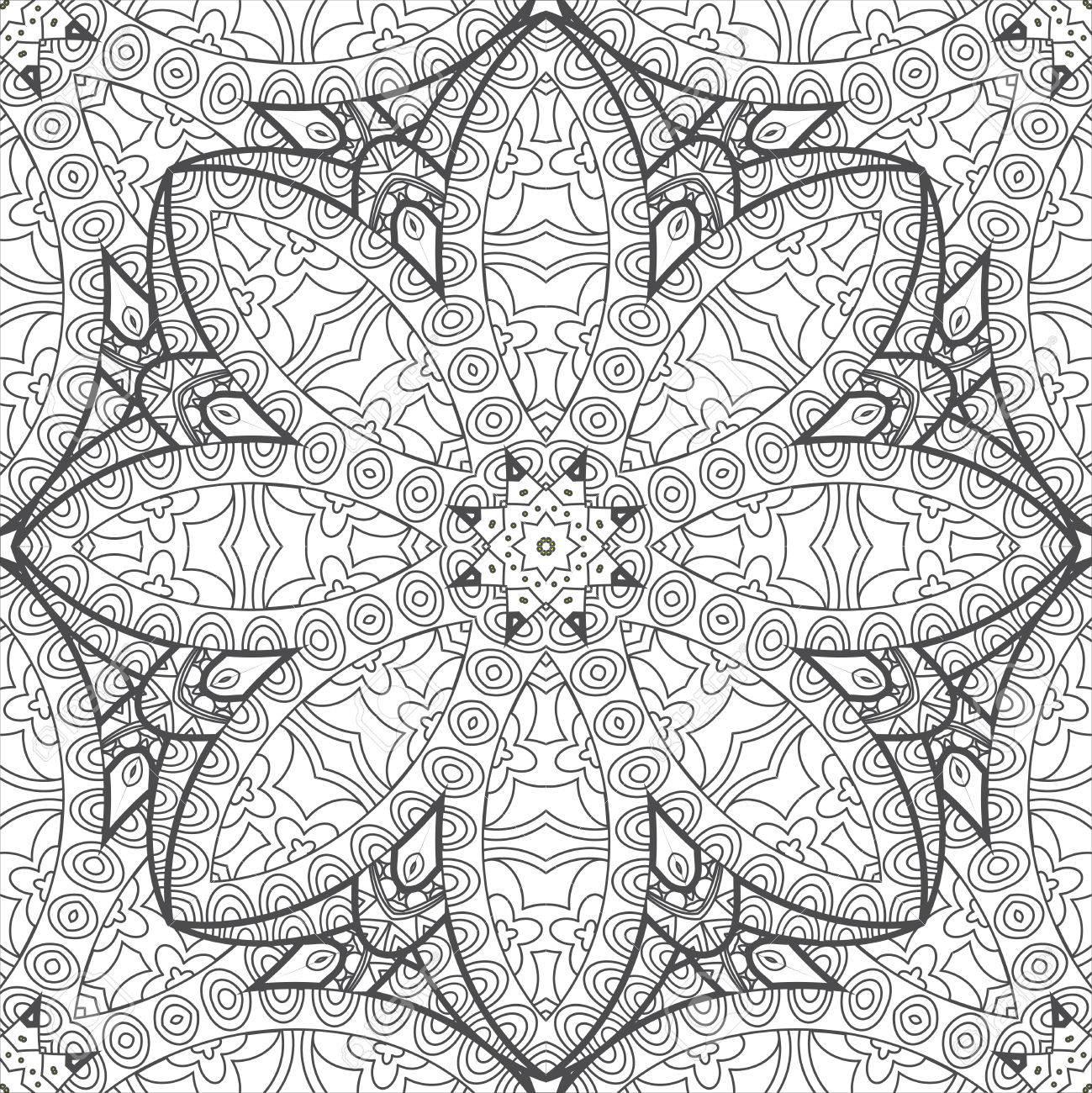 Blumen-Mandala Ornament Malvorlagen Für Kinder Und Erwachsene ...
