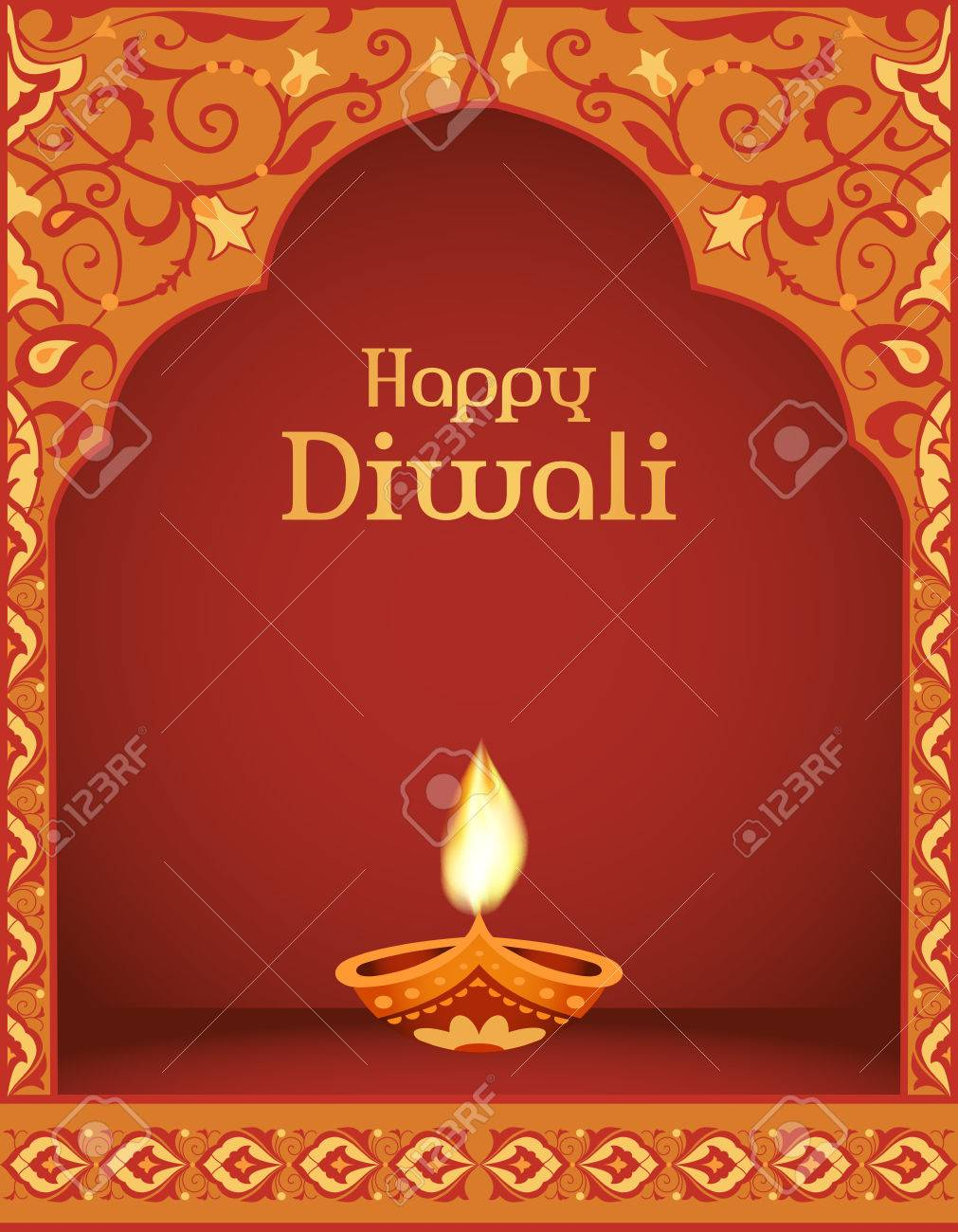 Happy diwali traditional indian festival greeting card design happy diwali traditional indian festival greeting card design stock vector 63424590 m4hsunfo