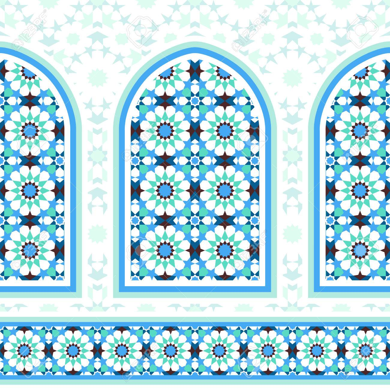 elements of islamic architecture ornamental mosaic background