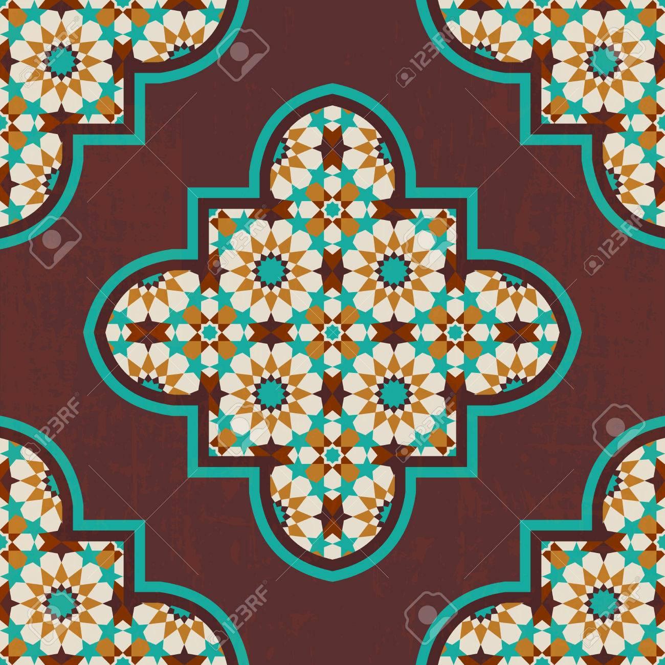 Ongekend Vintage Quatrefoil Marokkaanse Mozaïek Tegel Naadloze Patroon HM-01