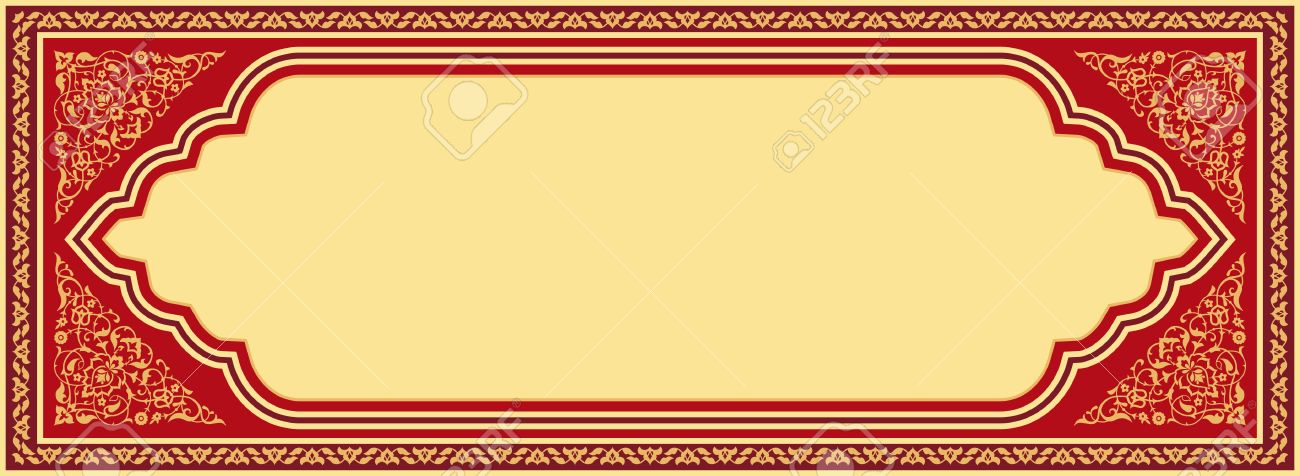 ornamental banner in arabic style red and golden traditional royalty free cliparts vectors and stock illustration image 73722925 ornamental banner in arabic style red and golden traditional