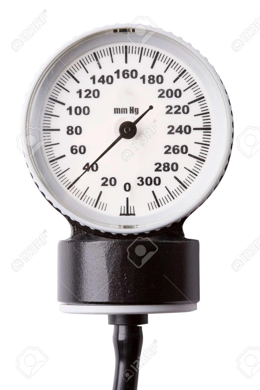 Manuelle Blutdruck überwachen Medizinische Instrument Isoliert Auf