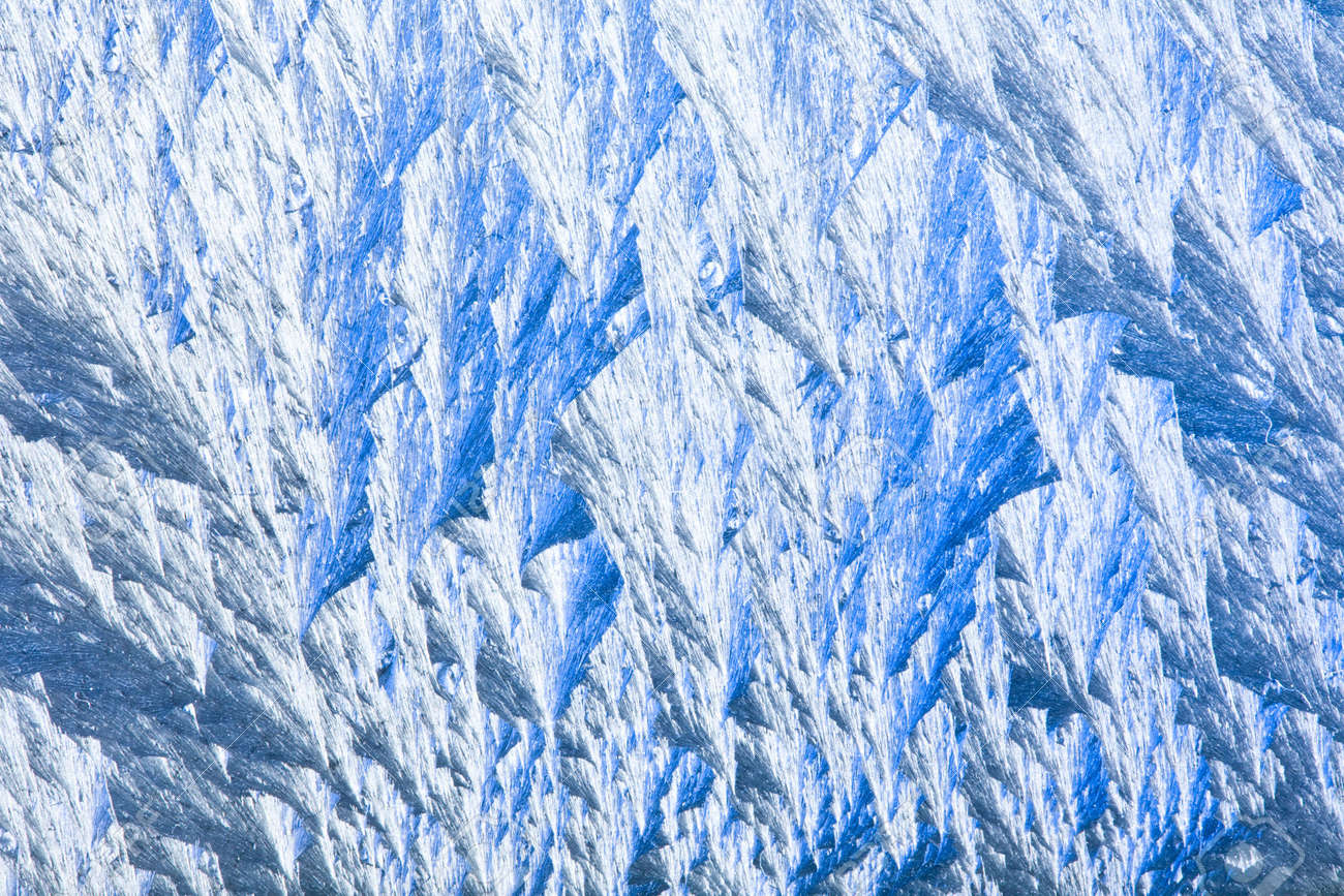Close up view of the natural frosty patterns Stock Photo - 2217516