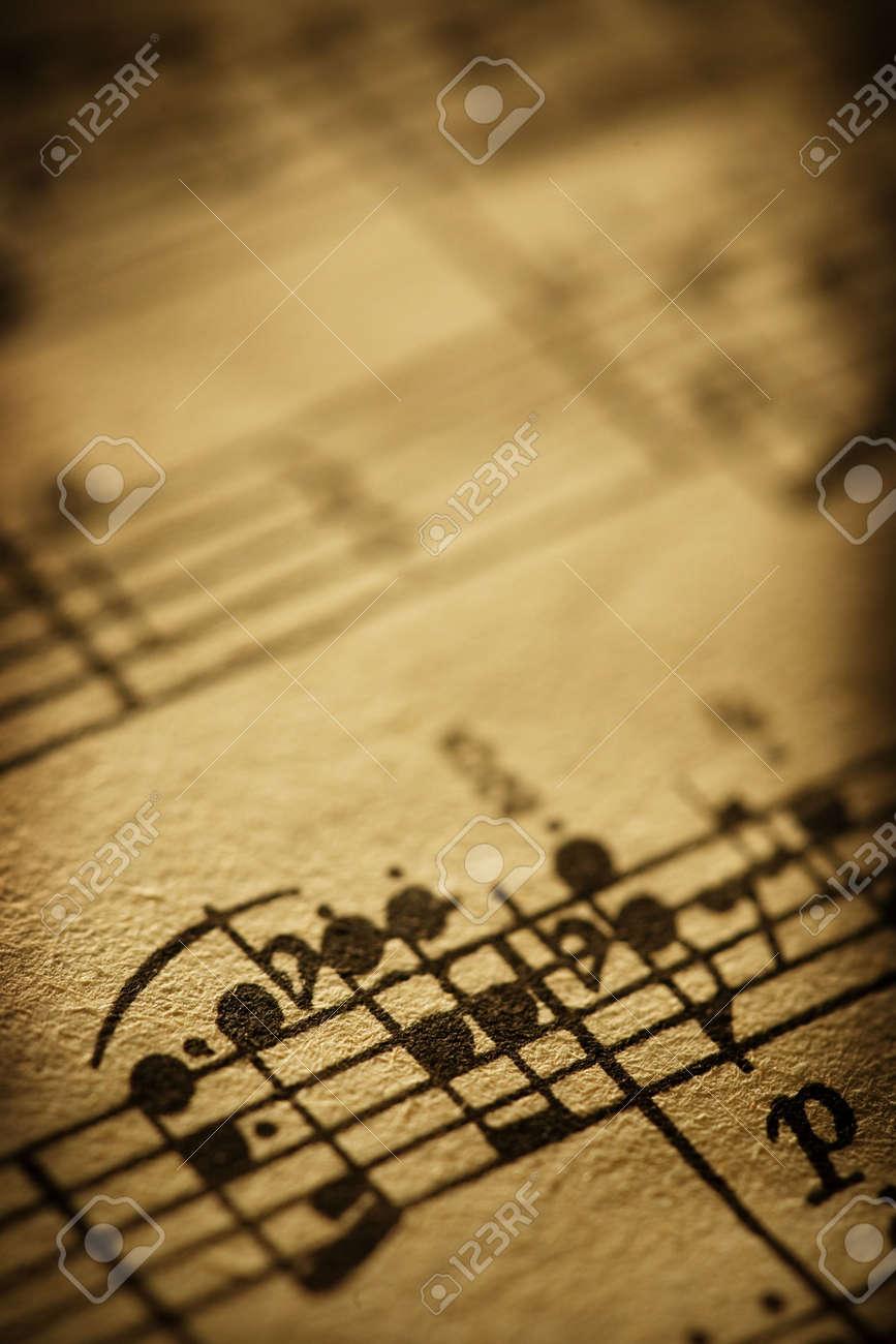 old sheet music Stock Photo - 3658636