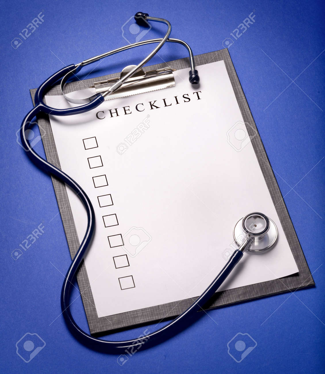 blank clipboard with modern stethoscope, space for messages Stock Photo - 3760776