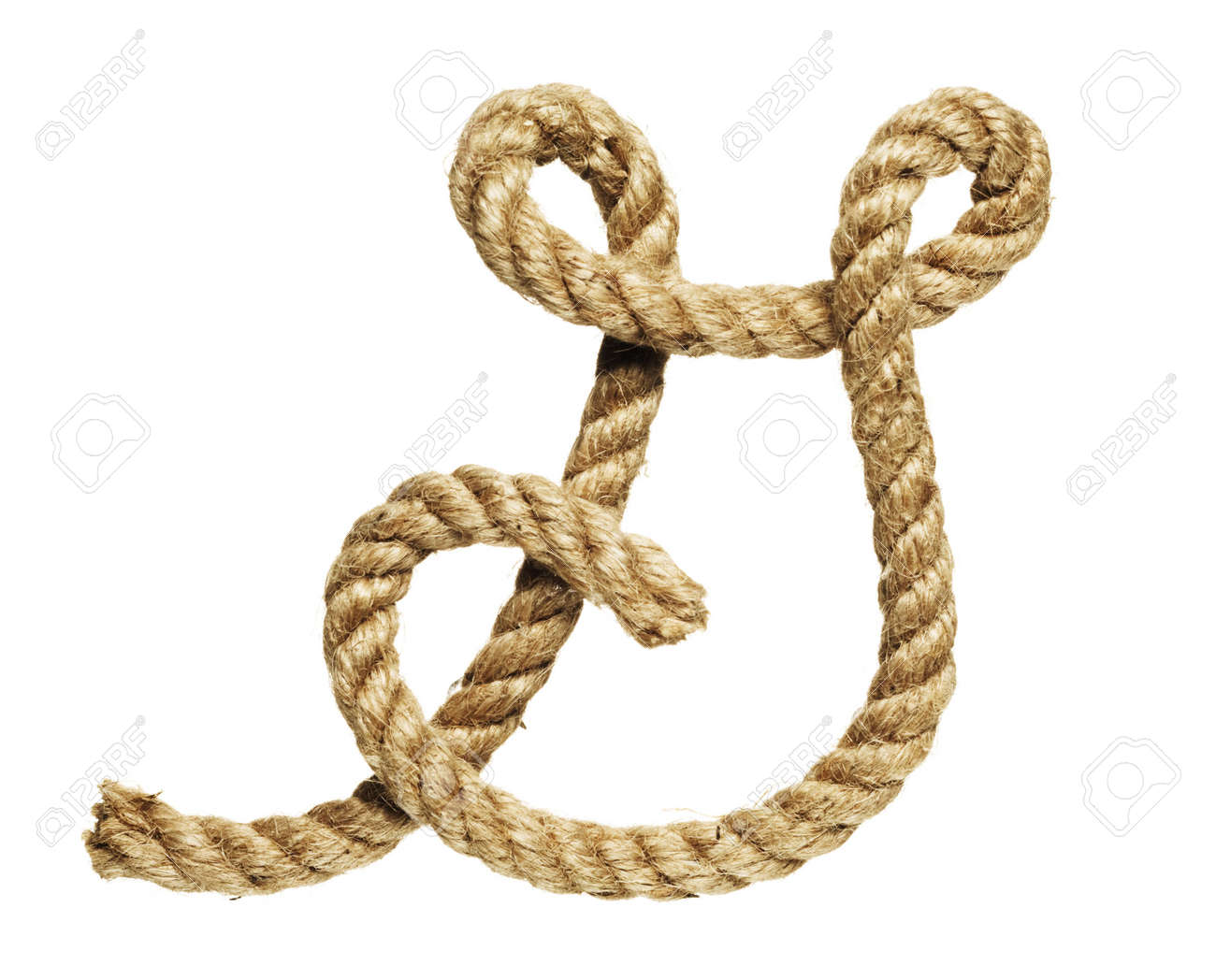 Alte Natürliche Faser-Seil Verbogen In Form Von Buchstaben G ...