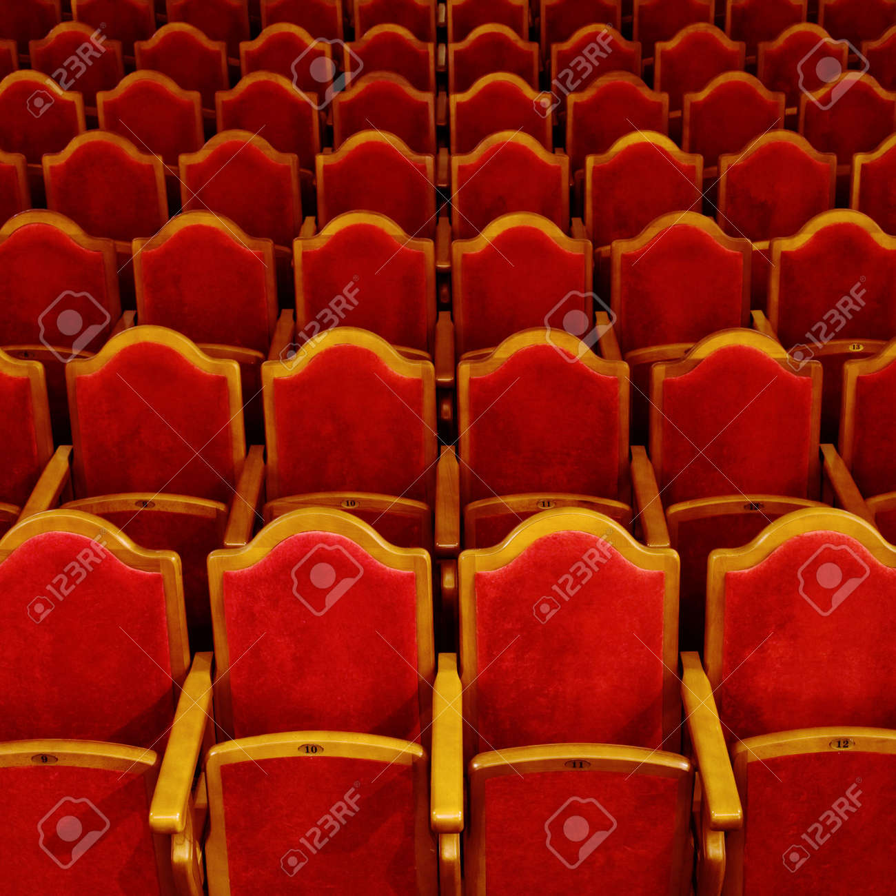 Photograph of the Rows of theatre seats Stock Photo - 4020623