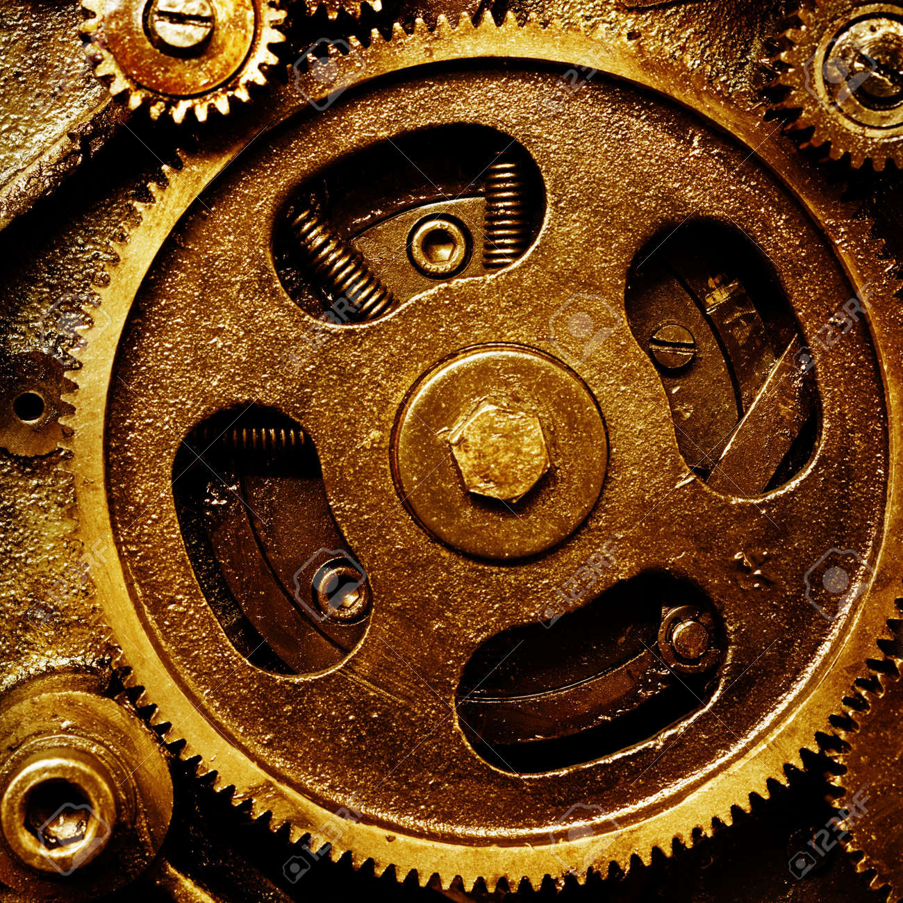close up view of gears from old mechanism Stock Photo - 4020712
