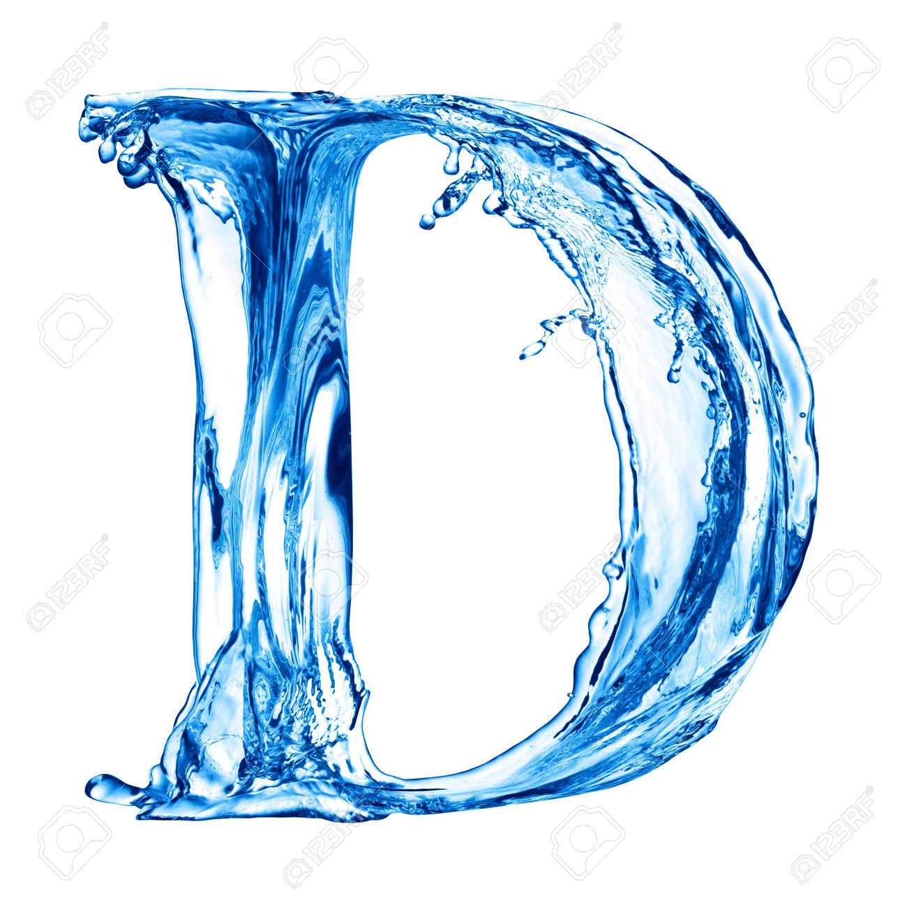 One letter of water alphabet Stock Photo - 4592784