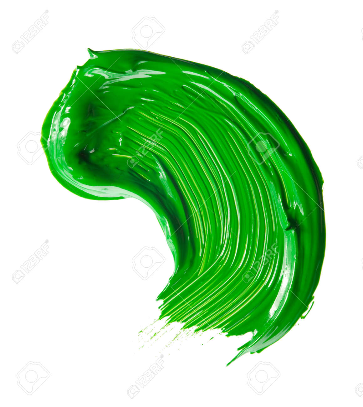 green paint tray isolated over white Stock Photo - 5888715