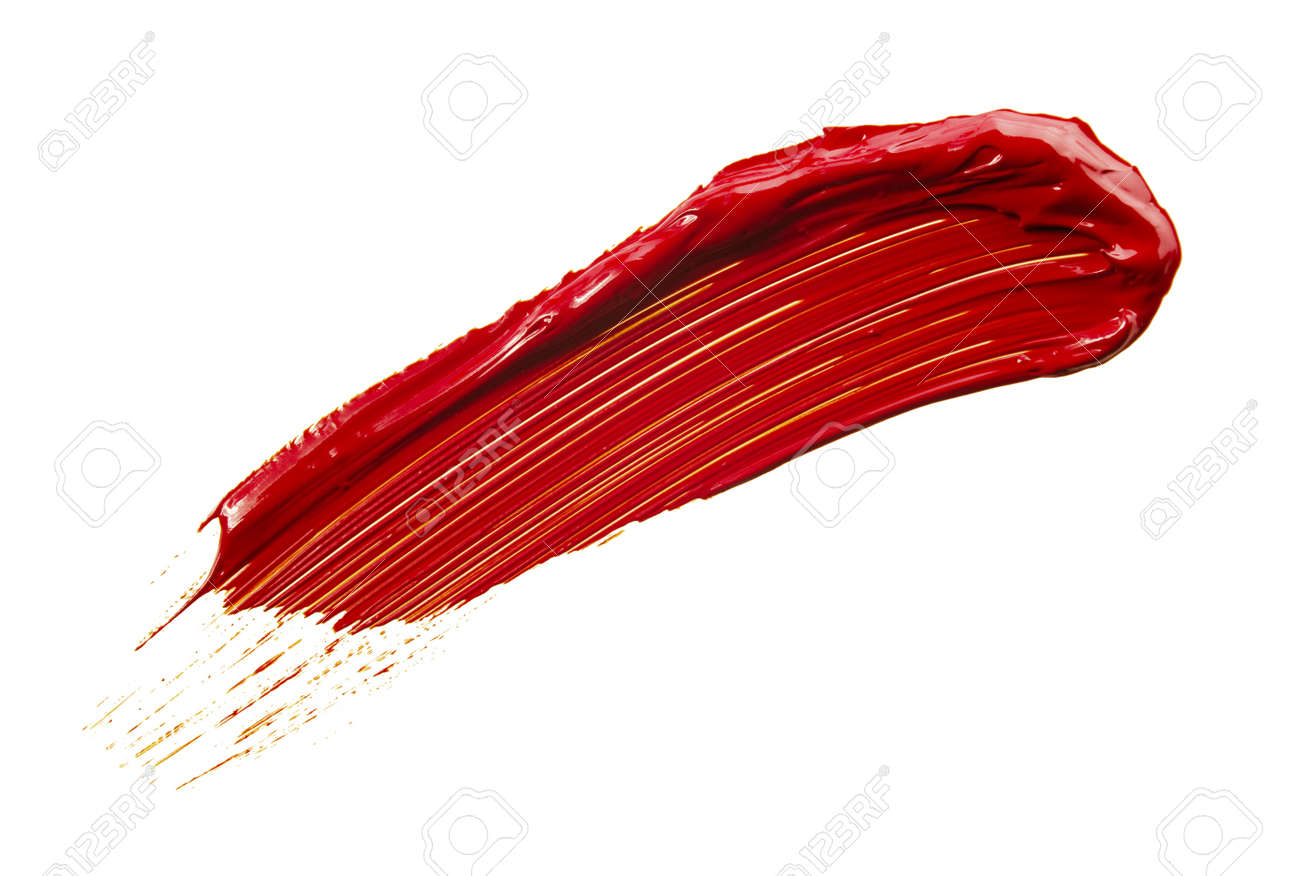 Texture Of Brush Strokes On White Background Stock Photo Picture