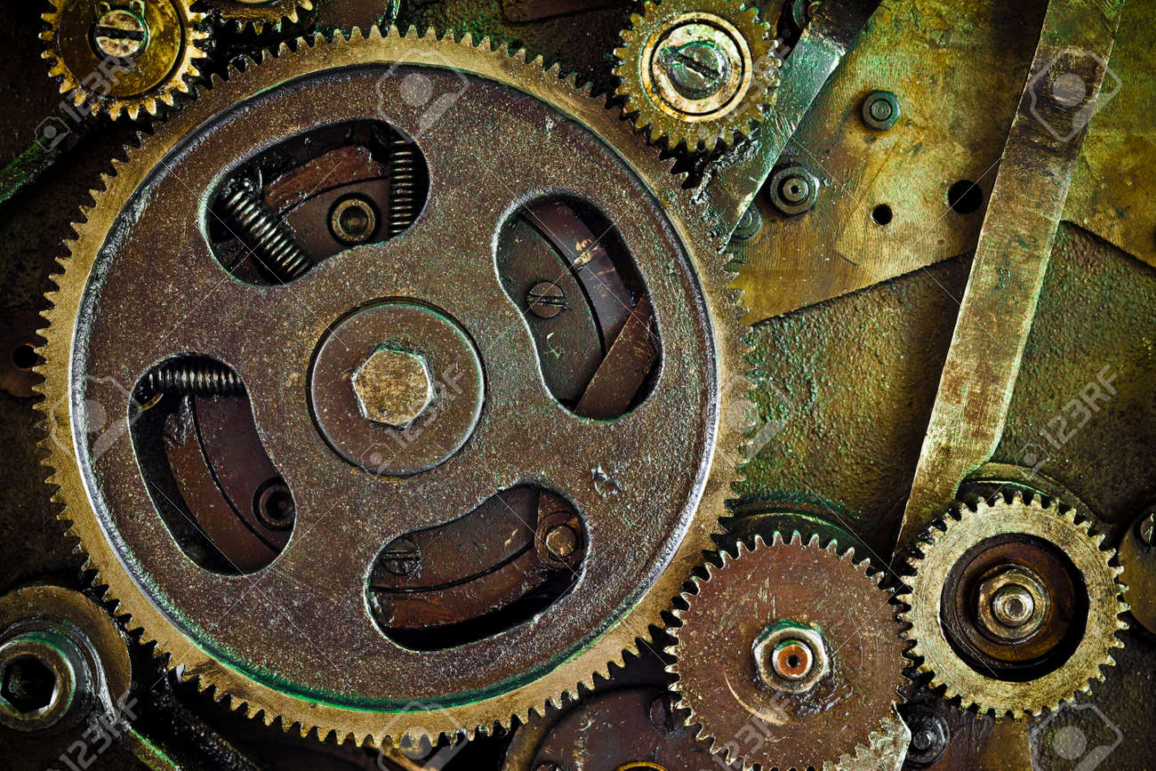 close up view of gears from mechanism Stock Photo - 7478691