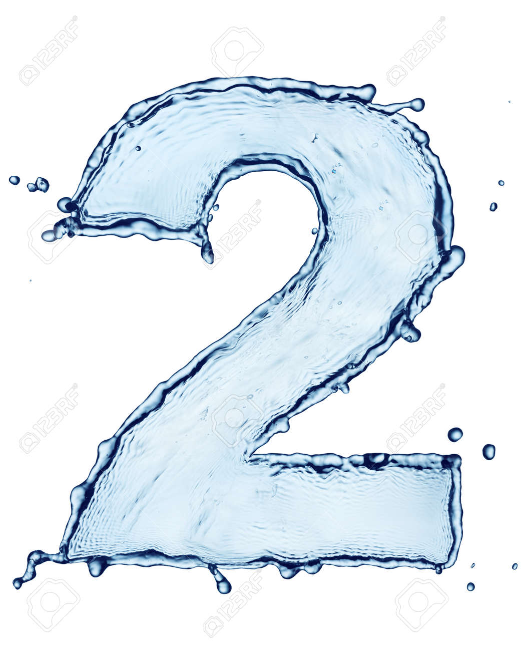 One letter of water alphabet Stock Photo - 9270493