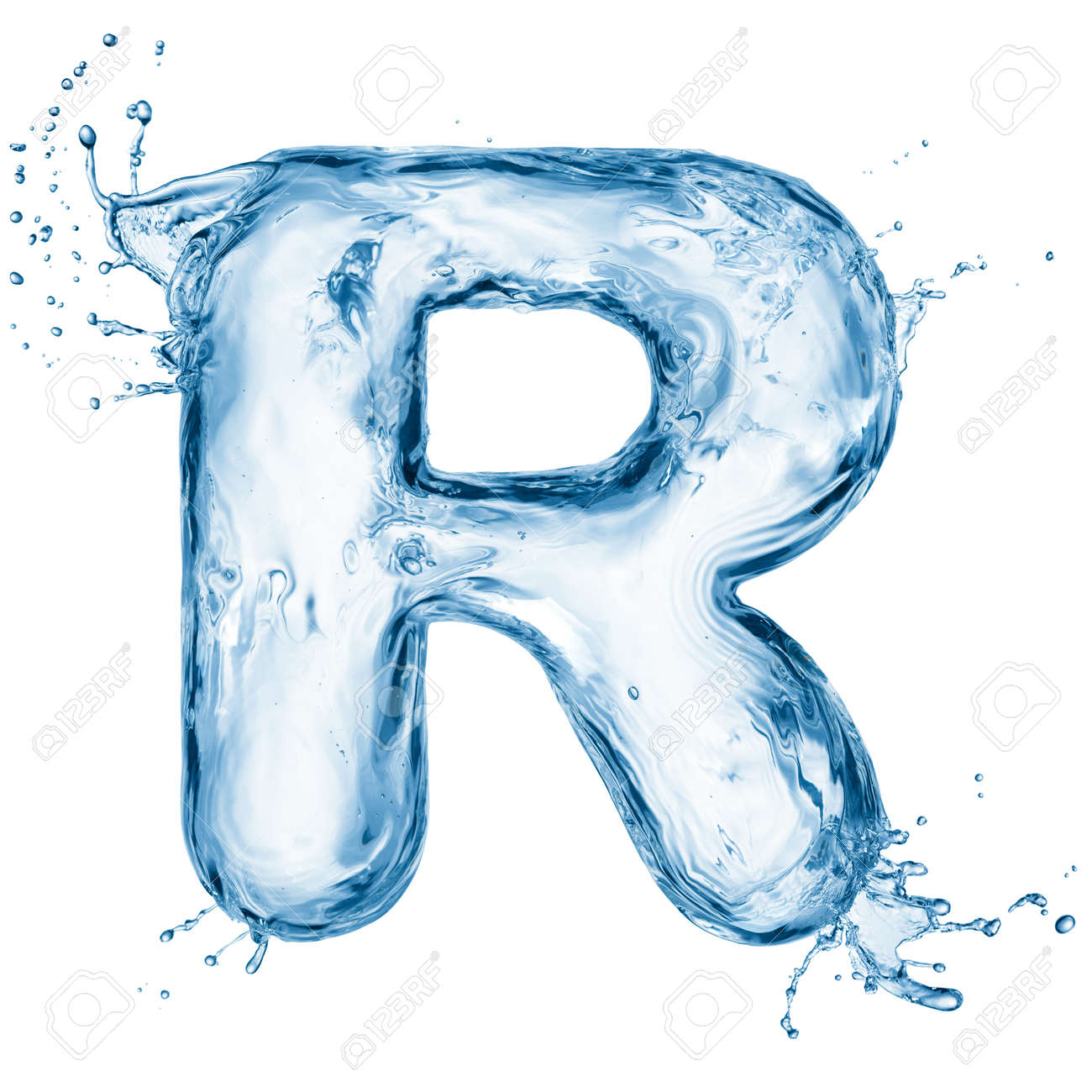One letter of water alphabet Stock Photo - 12569144