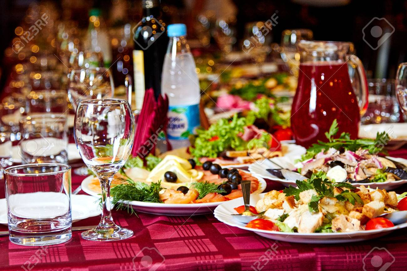 party table with drinks and snacks stock photo picture and royalty