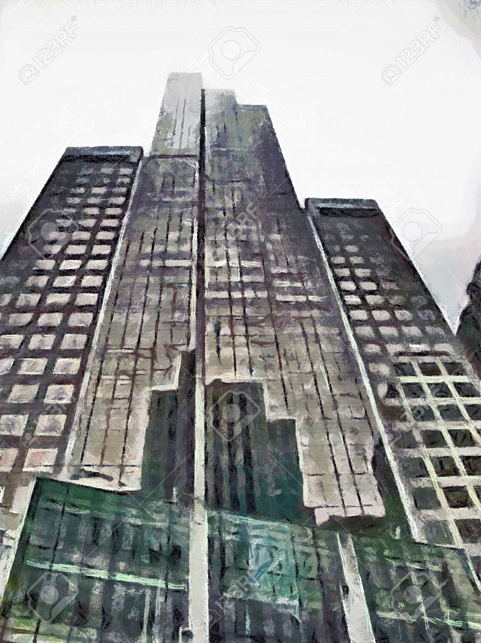 hacer dibujos de edificios y rascacielos en los estados unidos manhattan nueva york foto