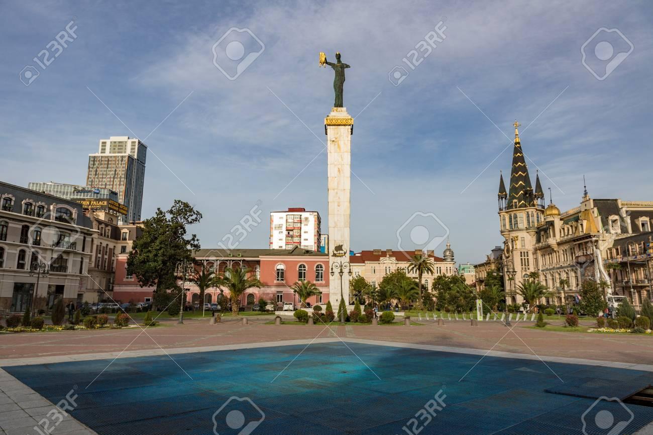 Batumi Georgia March 17 2018 The Statue Of Medea Is Located In