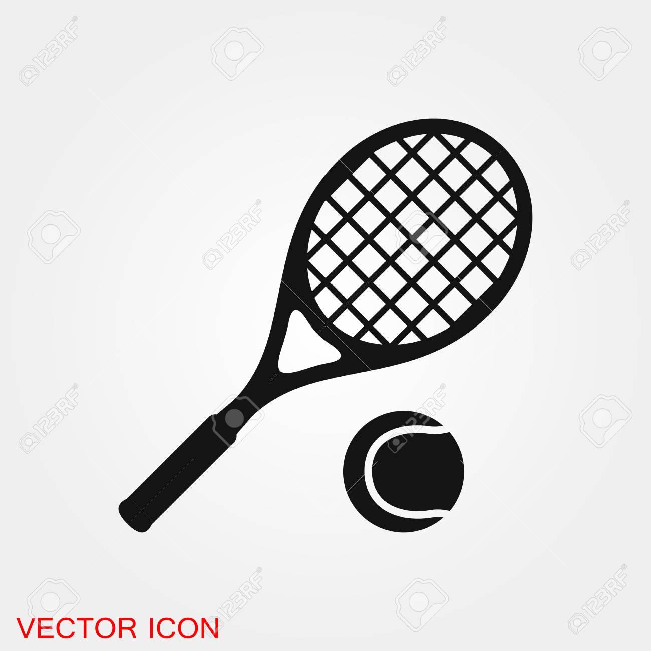 Tennis icon vector sign symbol for design - 122258978