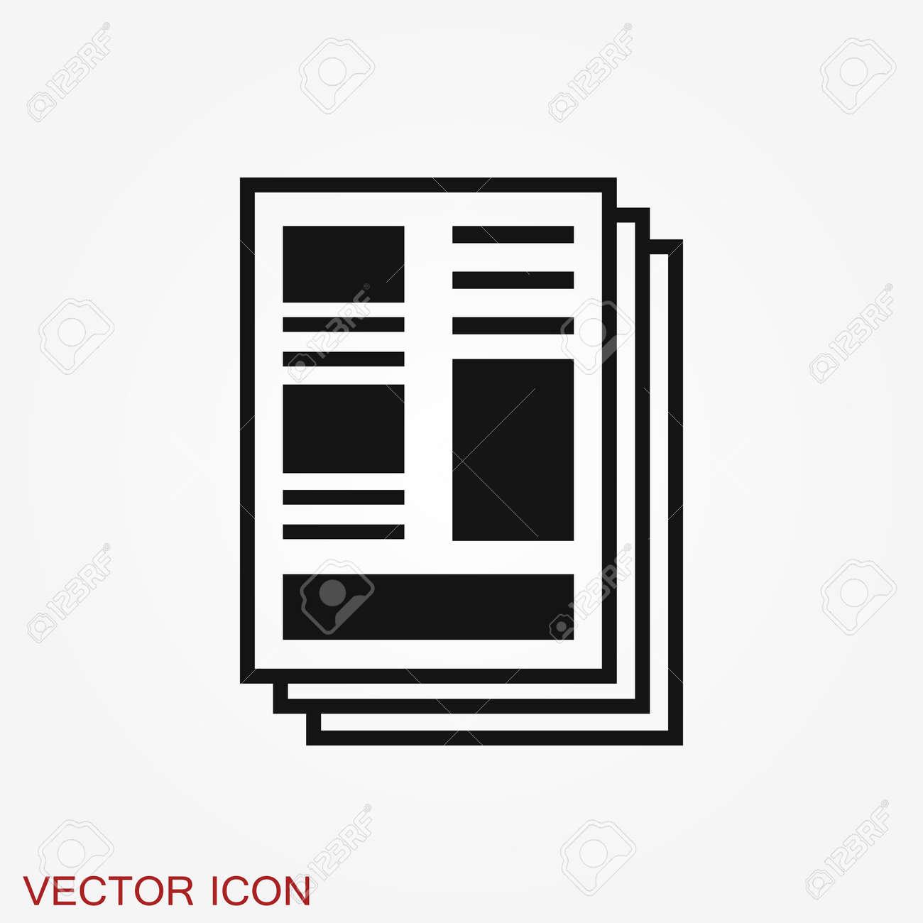 Newspaper icon. Symbol of news. Flat design. - 142882815