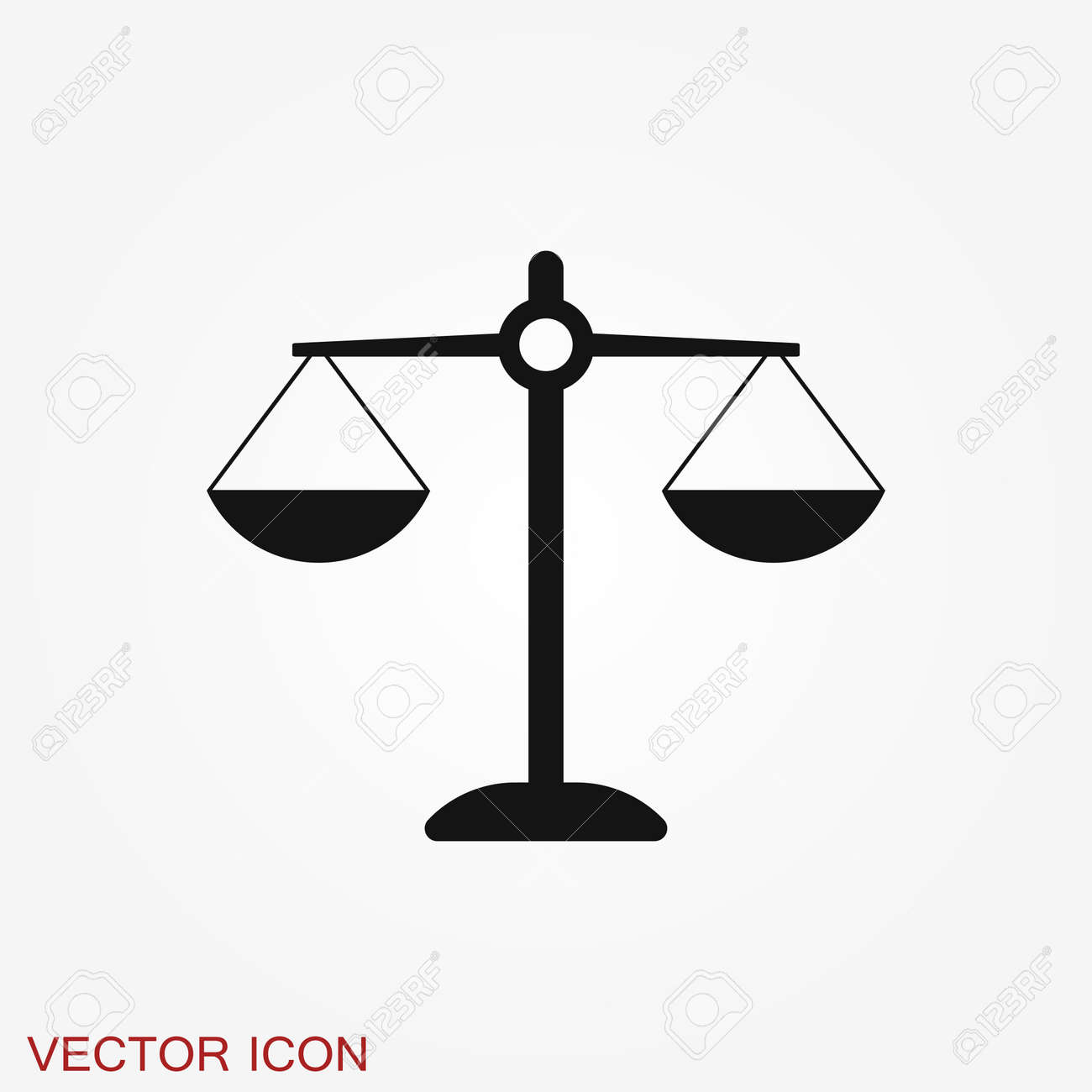Scales icon. Scales of justice vector icon. Court of law symbol. Flat signs - 146849057