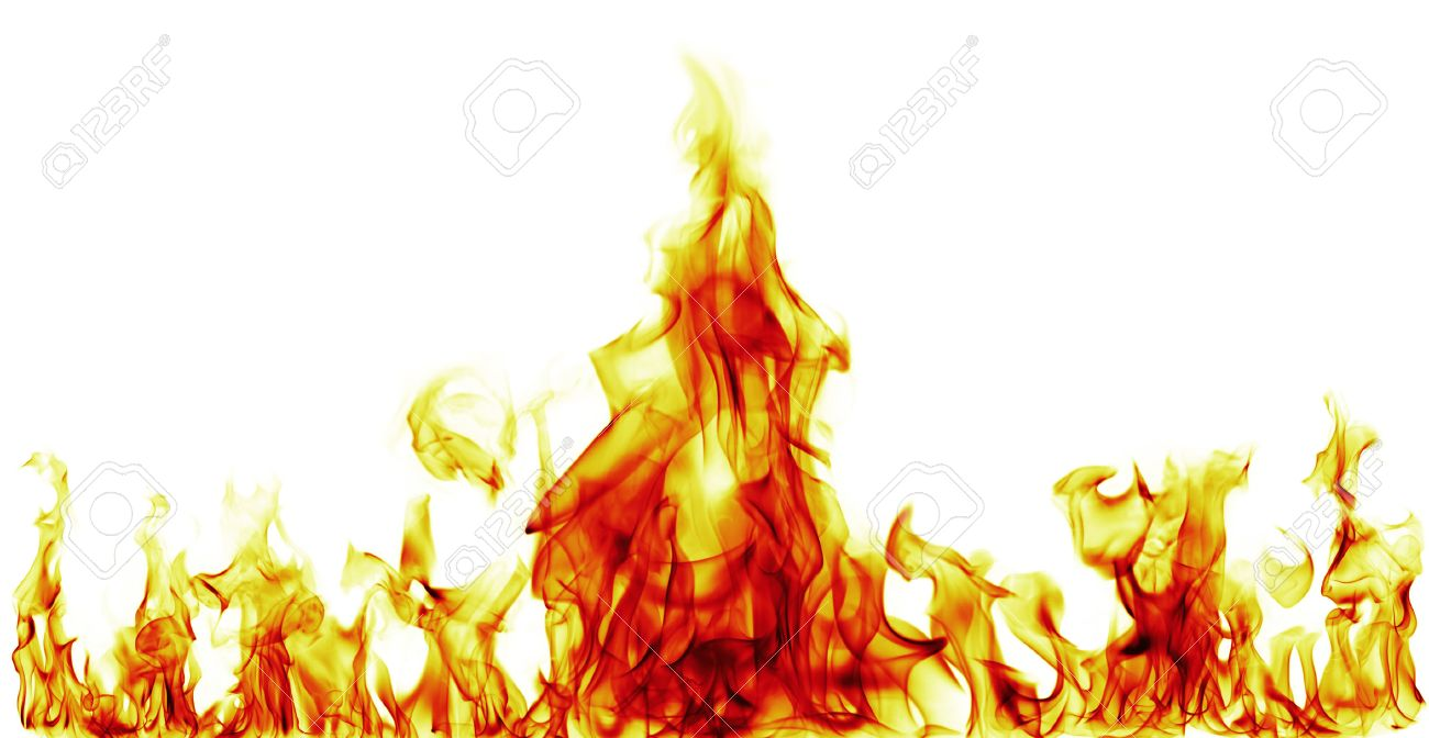 Fire flames on white background - 36295978