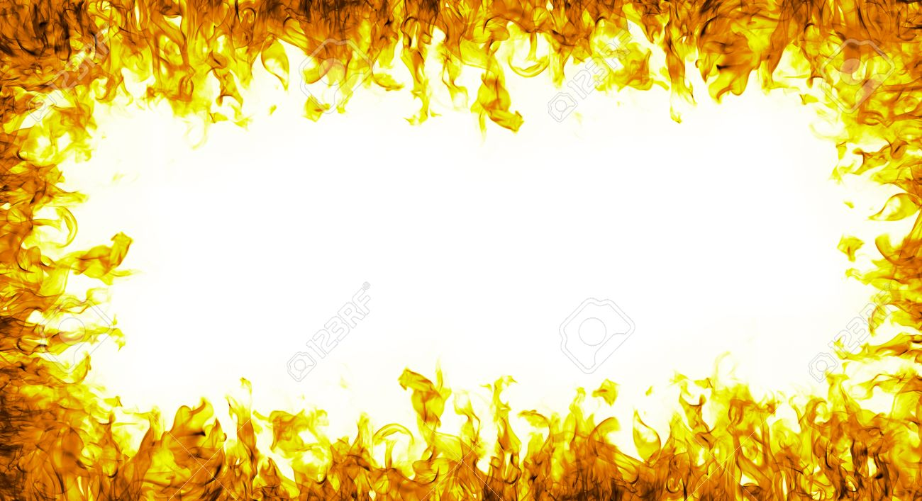abstract fire frame on white background - 36296137