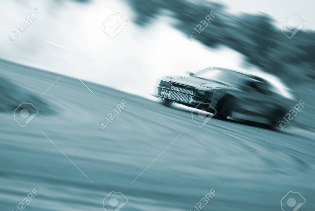 Very fast driving, motion blur blue color drift - 36486277