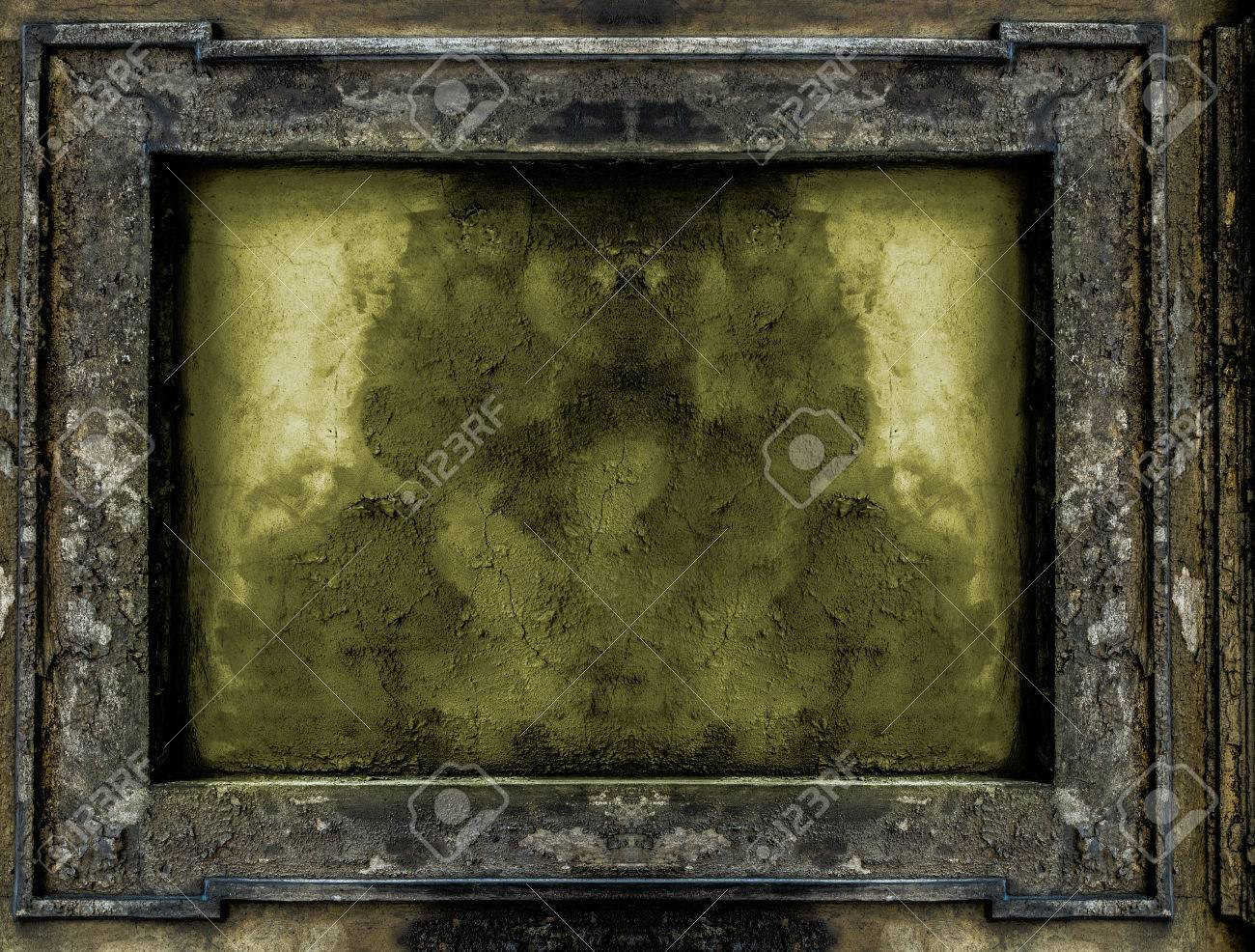 Old Gothic Frame Background Or Texture Stock Photo