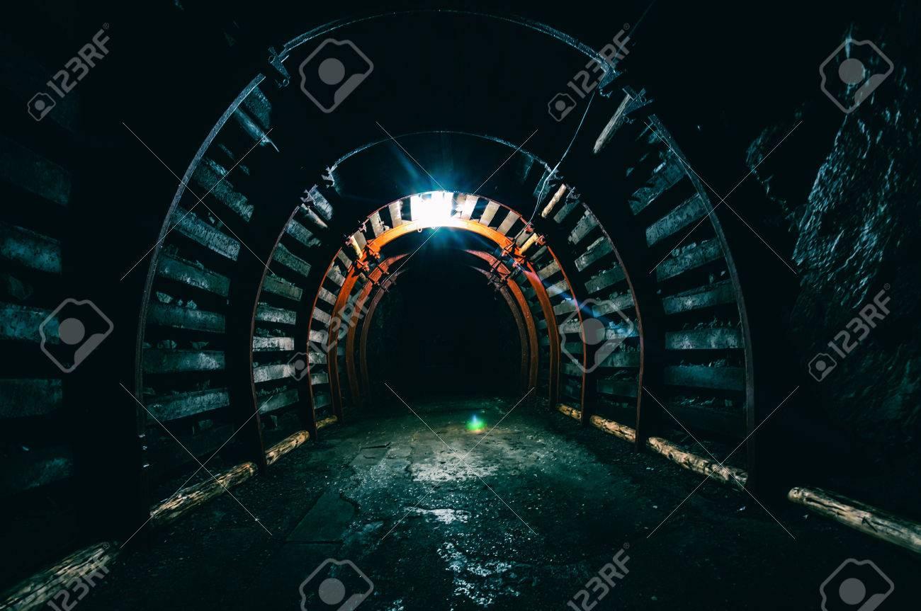 Underground Tunnel in the Mine - 38466945