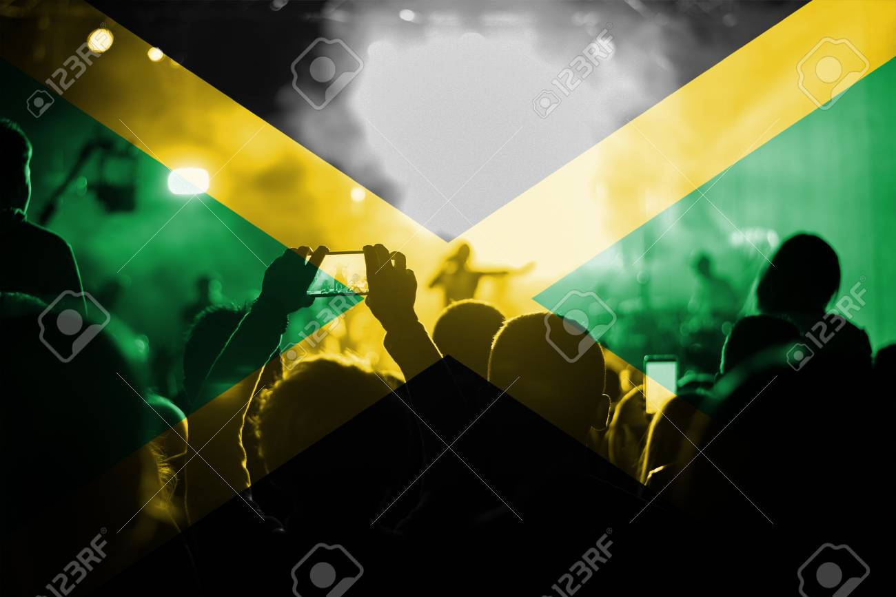 Reggae Live Music Concert With Blending Italy Flag On Fans Stock Photo,  Picture And Royalty Free Image. Image 61667980.
