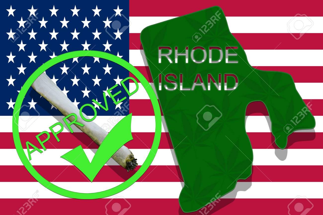 Rhode Island State On Cannabis Background Drug Policy Legalization
