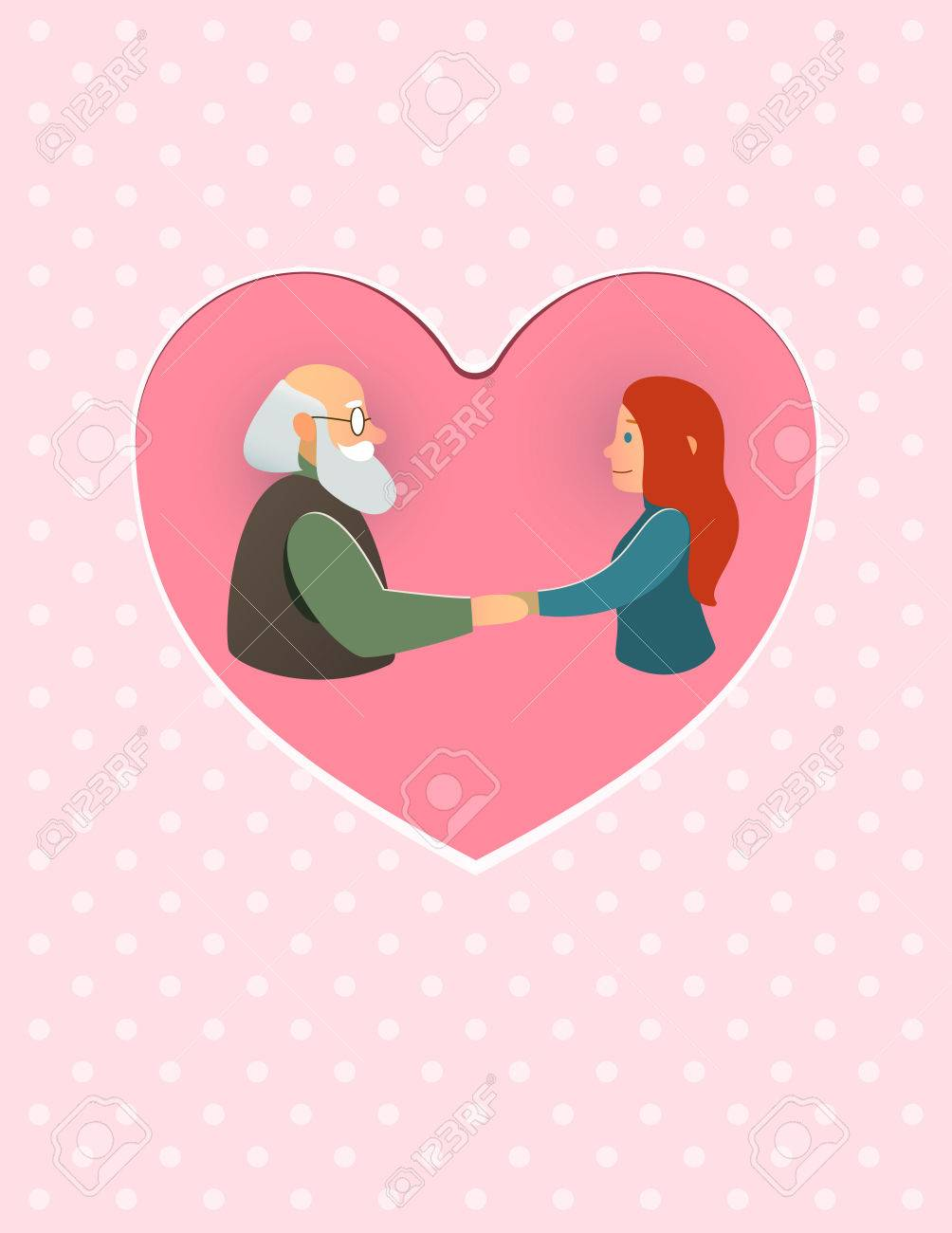 Fathers Grandparents Greeting Card Daughter Granddaughter And His