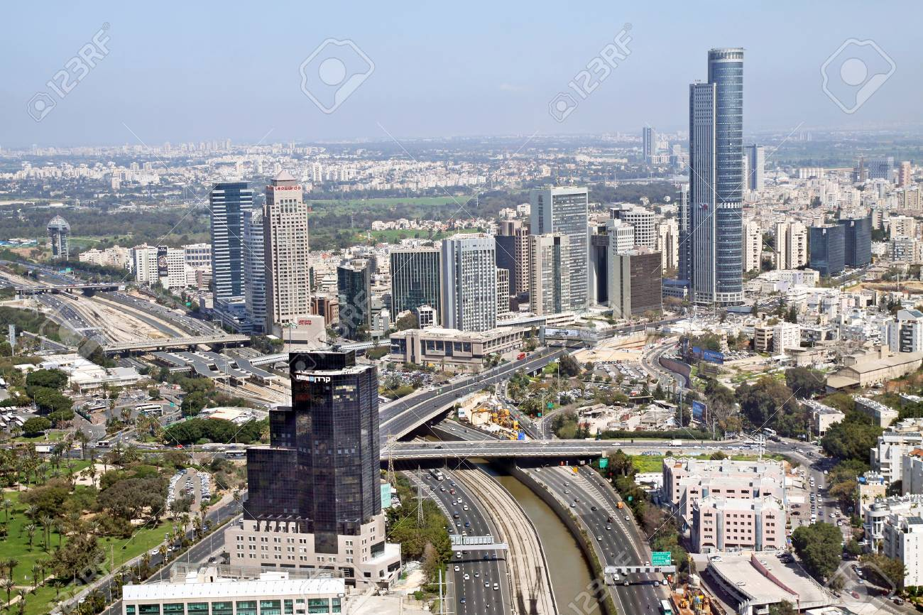 RAMAT GAN, ISRAEL - MARCH 21, 2011: TEL AVIV, ISRAEL - MARCH 21, 2011: View from the heights of the Diamond Exchange in Ramat Gan - 51492876