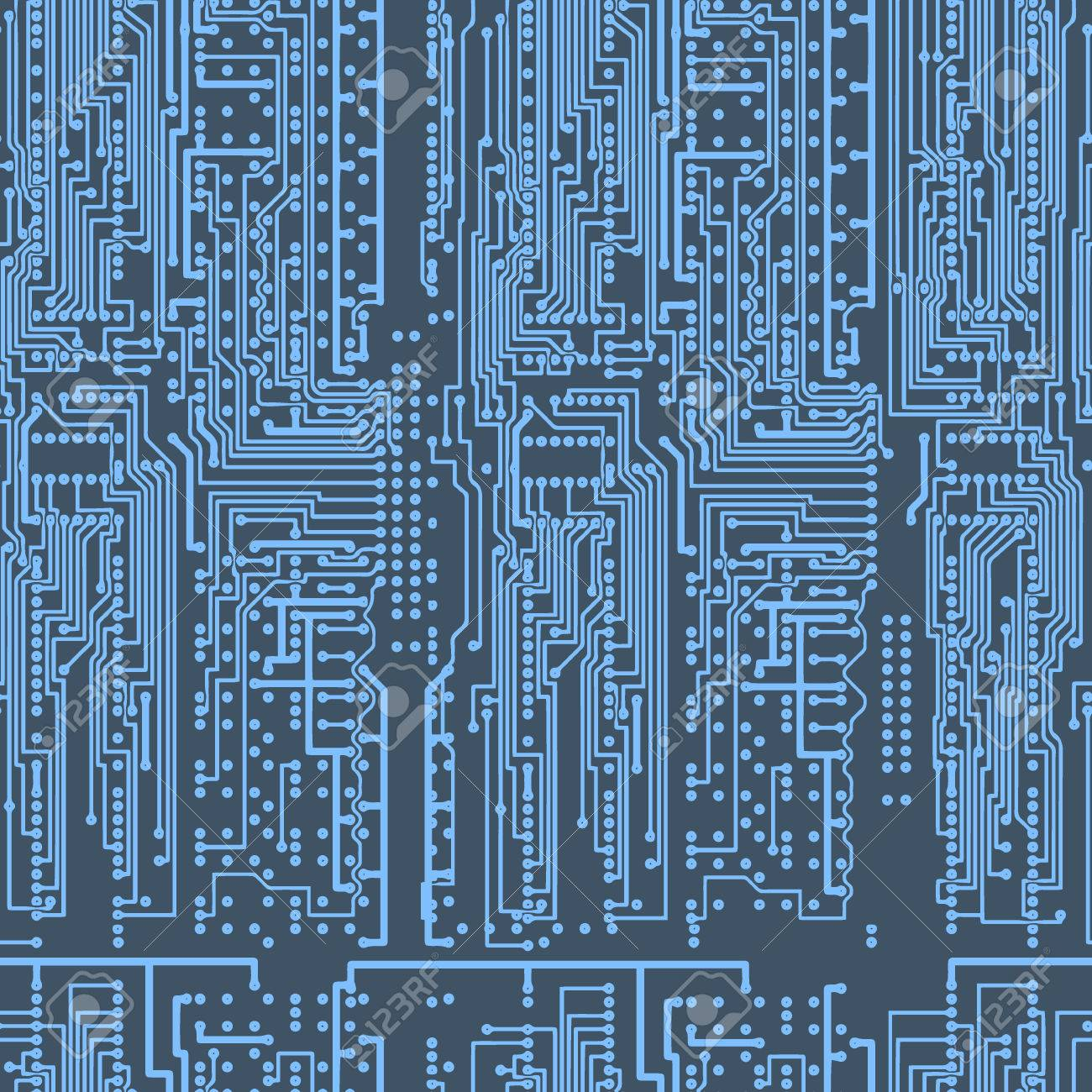 Blue Circuit Board Images Stock Photos Vectors Wallpaper Pattern Bluecircuit Electronic Tileable Seamless Repeating Background Continuous Left Right Up