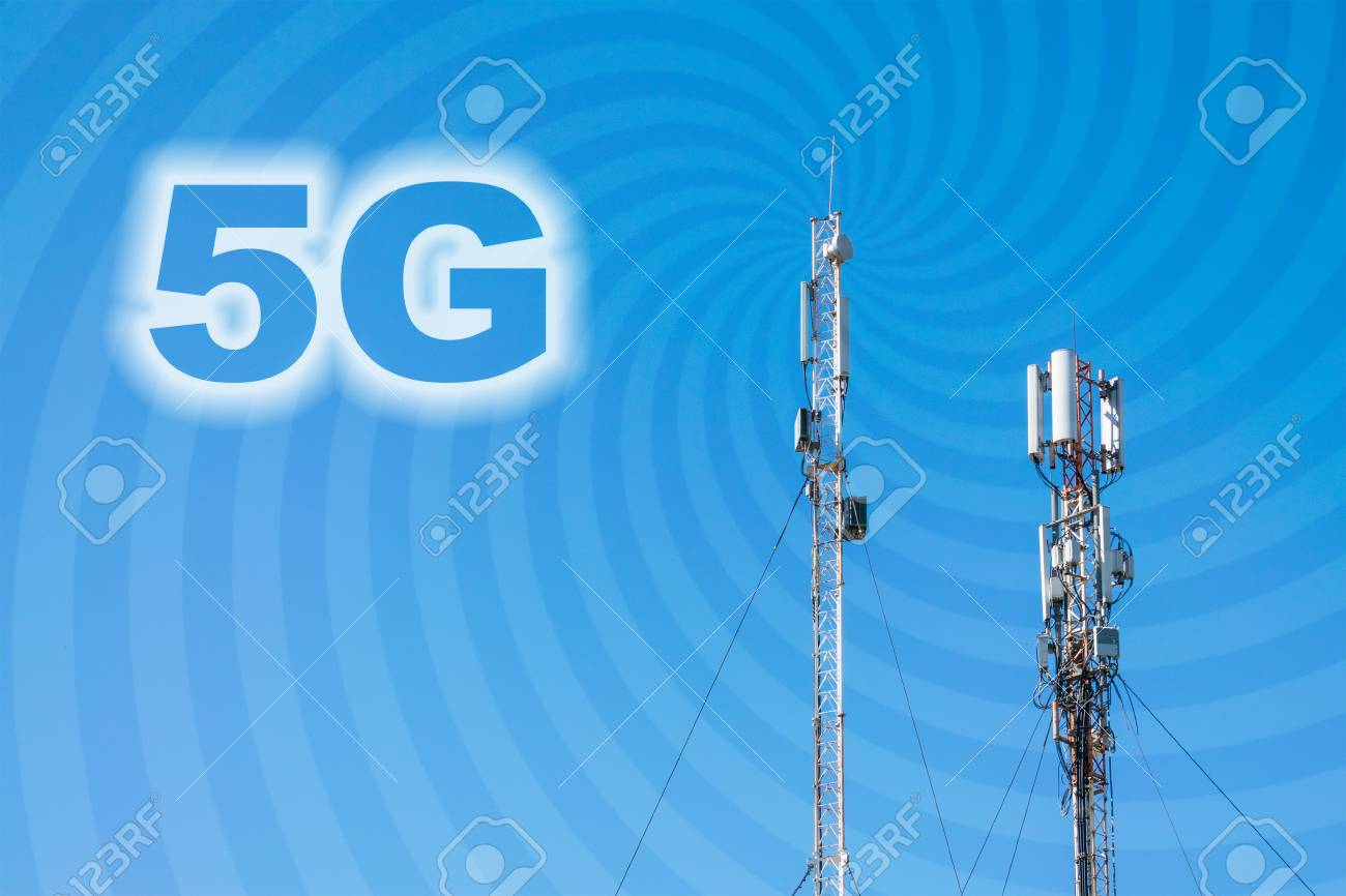 5G Network Connection Concept  Micro cell 3G, 4G, 5G Mobile phone