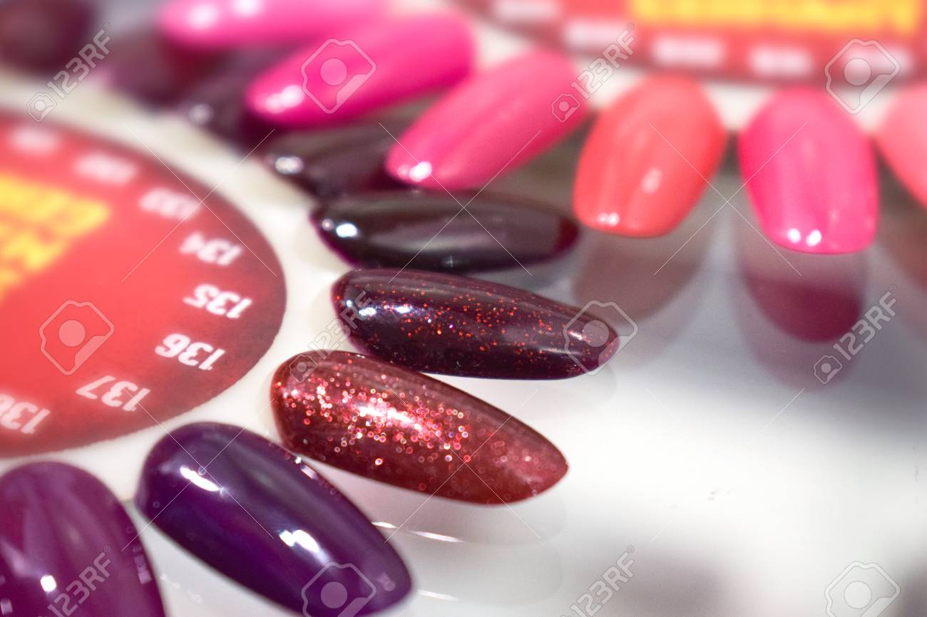 Different Colorful Nails Polish Manicure Palette Background Stock Photo Picture And Royalty Free Image Image 110180596
