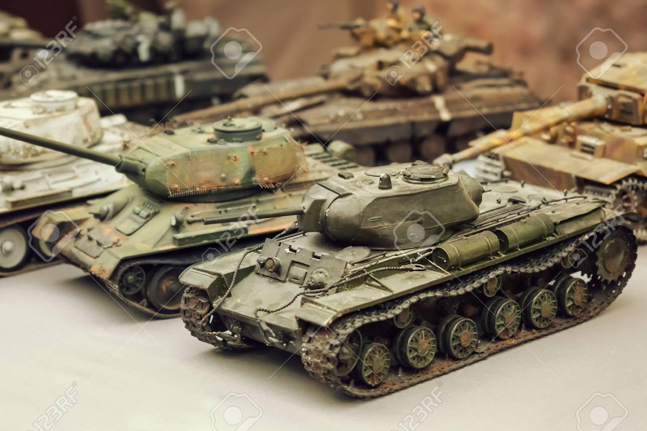 Model toy miniature Soviet Tanks  Various camouflage Military