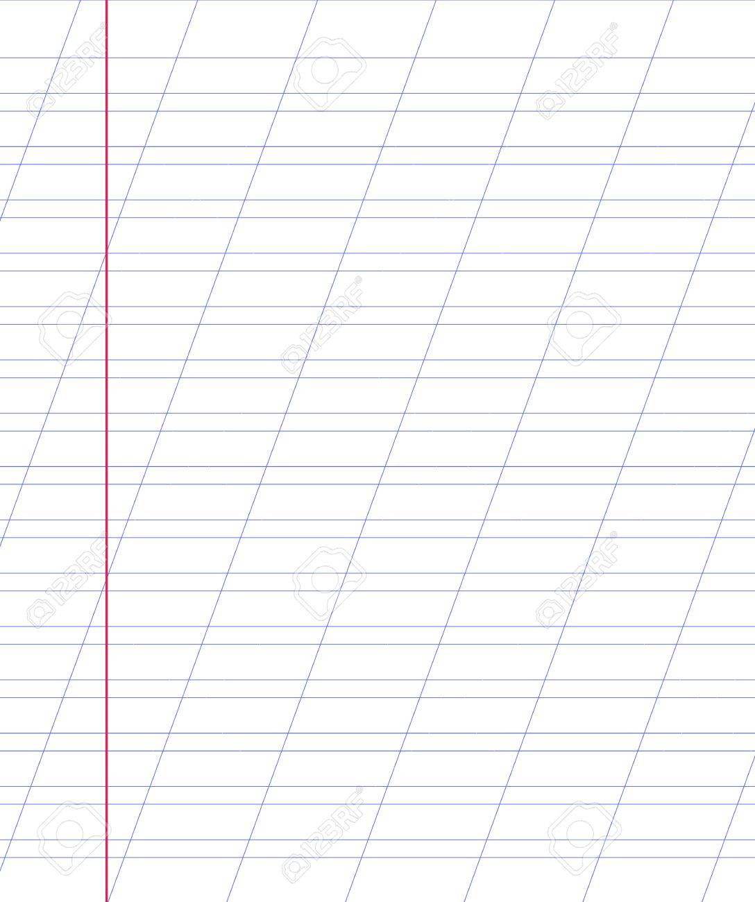 blank notebook paper sheet with lines royalty free cliparts vectors