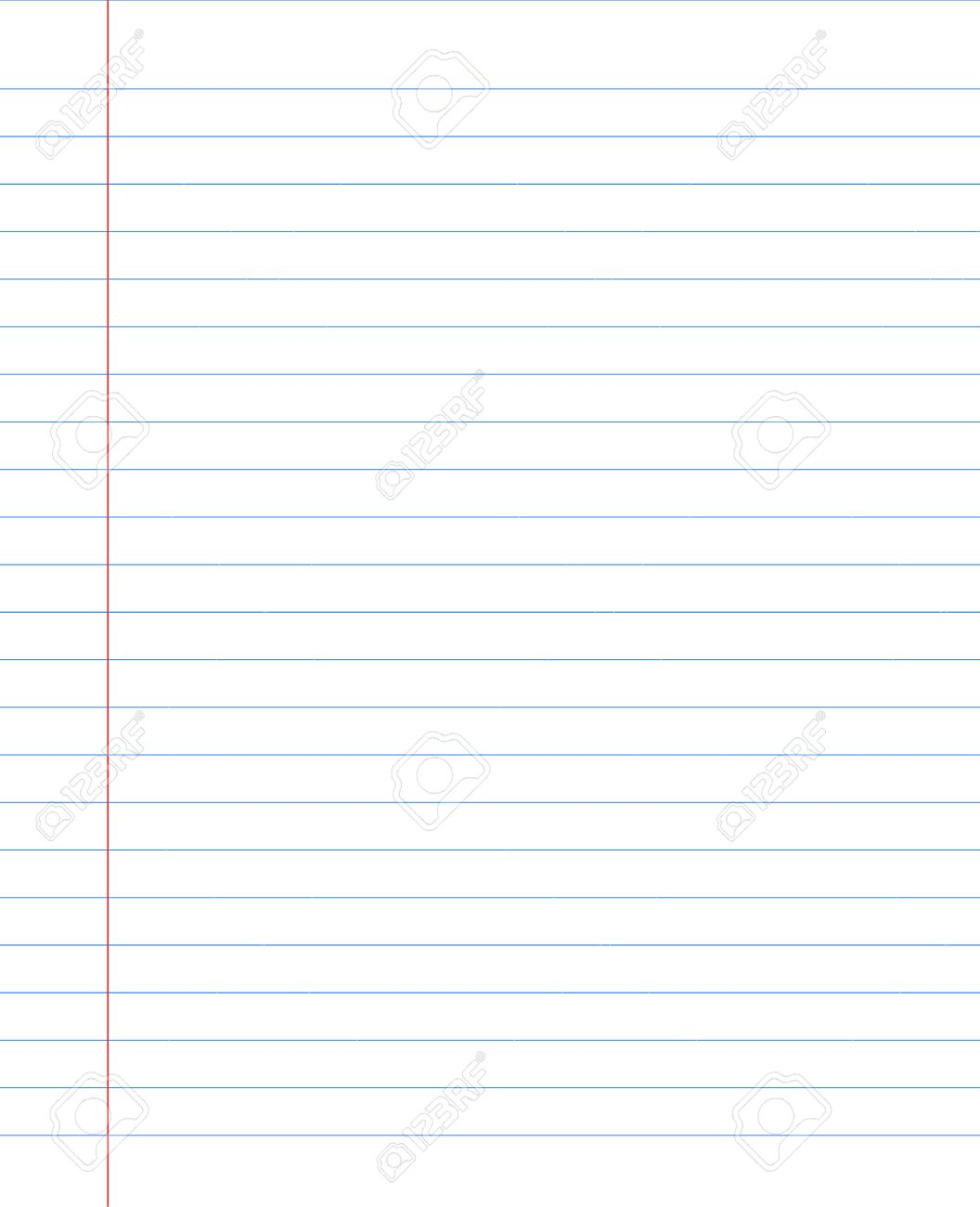 Blank Notebook Paper Sheet With Lines Royalty Free Cliparts – Blank Sheet of Paper with Lines