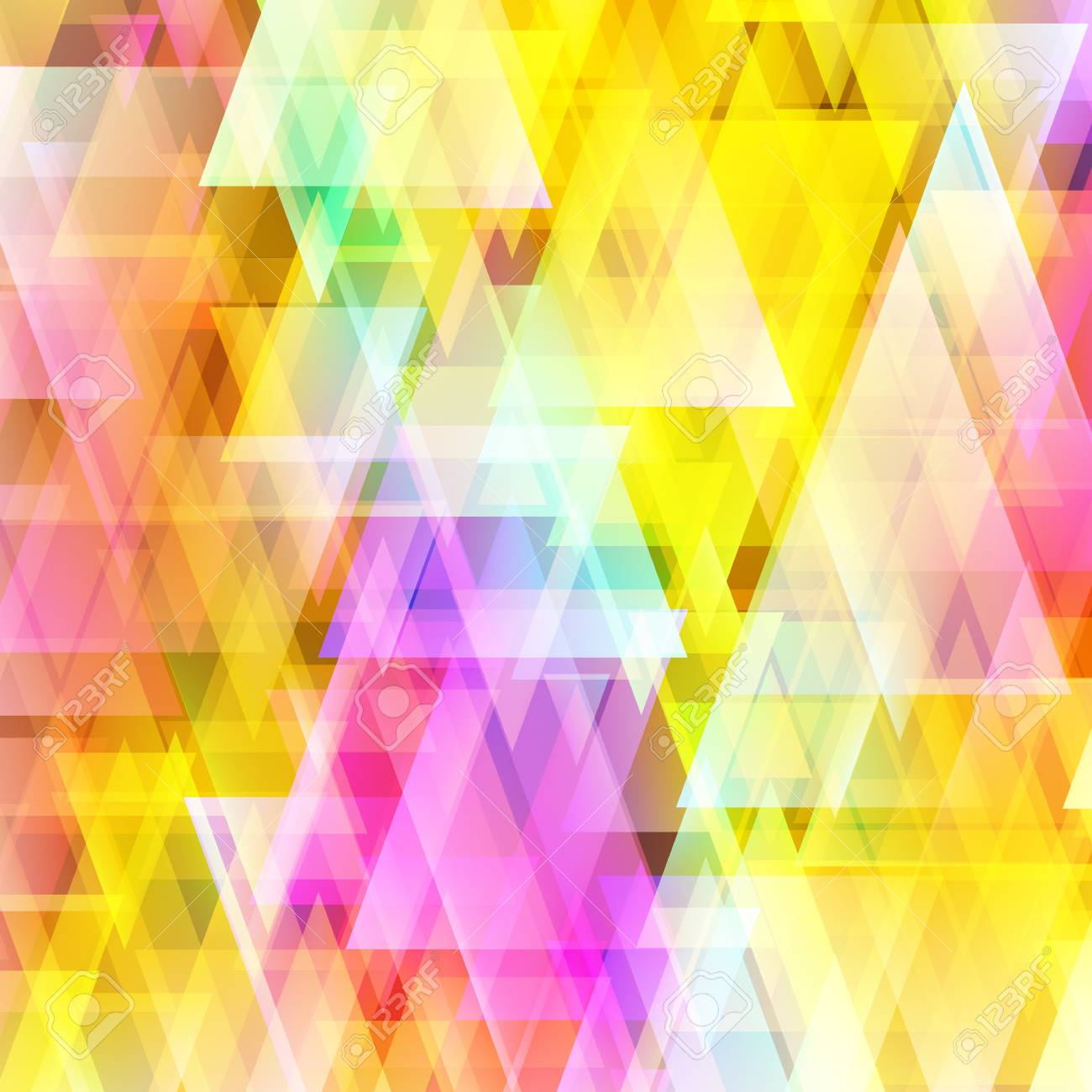 Abstract colorful triangle background. Used mesh layers and transparency layers. Stock Vector - 27383418
